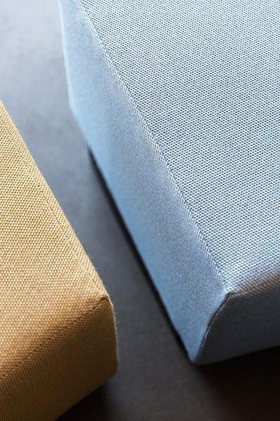 Foto af tekstil på interiør design